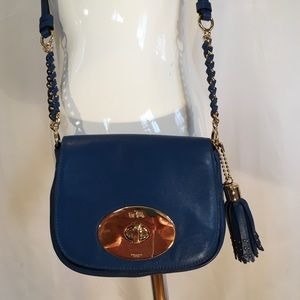 Coach Crossbody Small Lapis Blue Like New